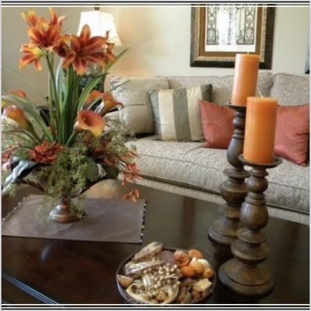 living room center table decor