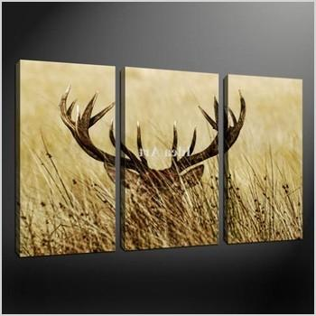 3 piece wall art painting pictures print on canvas deer sunset modern the picture for home decoration decor oil and calligraphy 6121965