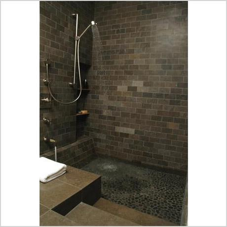 roman tub shower modern bathroom other metro