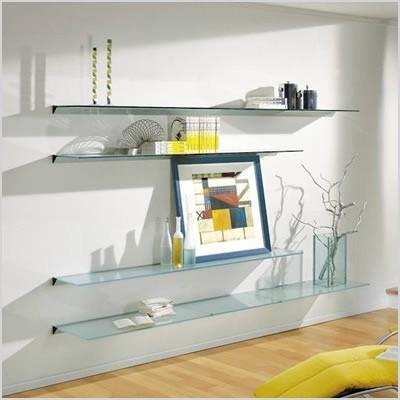 floating shelves for elegant displays