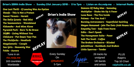 Brian's Indie Show Replay - as played on Radio KC - 21.1.18