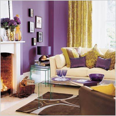 purple living rooms