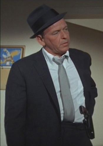 Tony Rome's Charcoal Flannel Suit