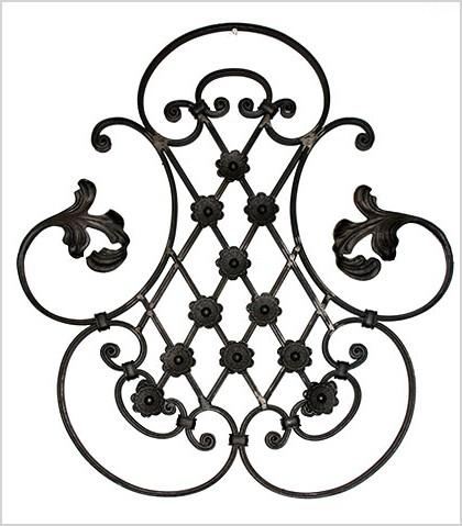 custom wrought iron curtain rods