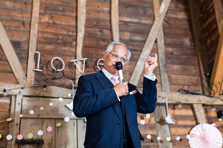 Preston Court Wedding Photography dad gives a speech