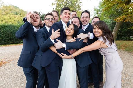 Preston Court Wedding Photography group hug