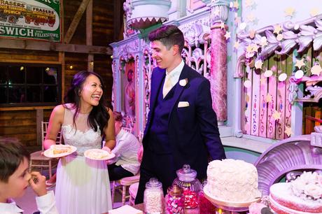 Cake cutting Preston Court Wedding Photography
