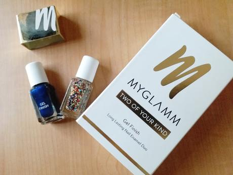 MyGlamm Two Of Your Kind Long Lasting Gel Finish Nail Enamel Duo in Party Popper