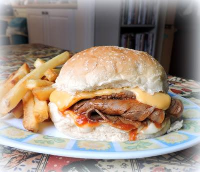 Hot Roast Beef and Cheese Sandwiches
