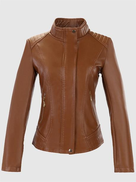 Newchic brown leather jackets