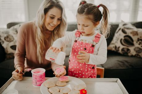 Valentine's Day activities to do with your kids; making cookies