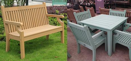 What's the best way to clean synthetic rattan garden furniture?