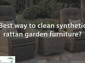 What's Best Clean Synthetic Rattan Garden Furniture?