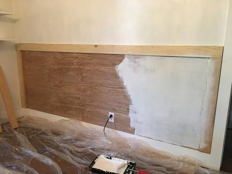 My latest DIY: Wainscot Wall with Picture Ledge