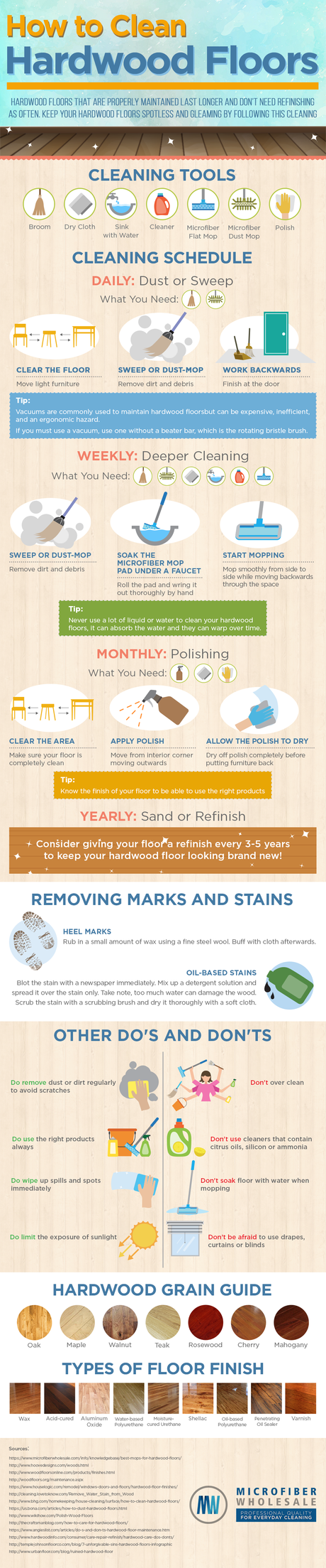 How To Keep Your Hardwood Floors Looking New [Infographic]