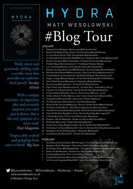 Blog Tour – Hydra (Six Stories #2) – Matt Wesolowski