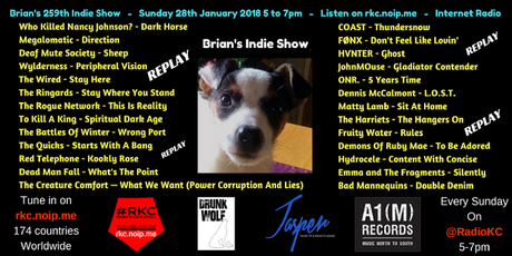 Brian's Indie Show REPLAY - as played on Radio KC - 28.1.18