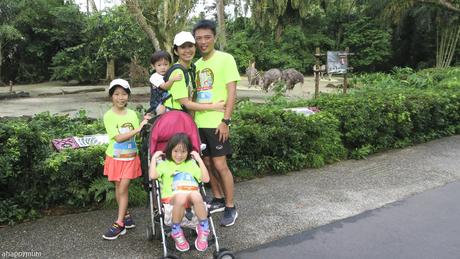 My little troopers at Safari Zoo Run 2018