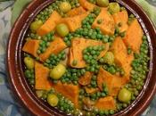 Tagine Poulet Patates Douces Petits Pois Chicken with Sweet Potatoes Small Peas Pollo Batatas Guisantes طاجين الدجاج البطاطا الحلوة الجلبانة(البازلاء)