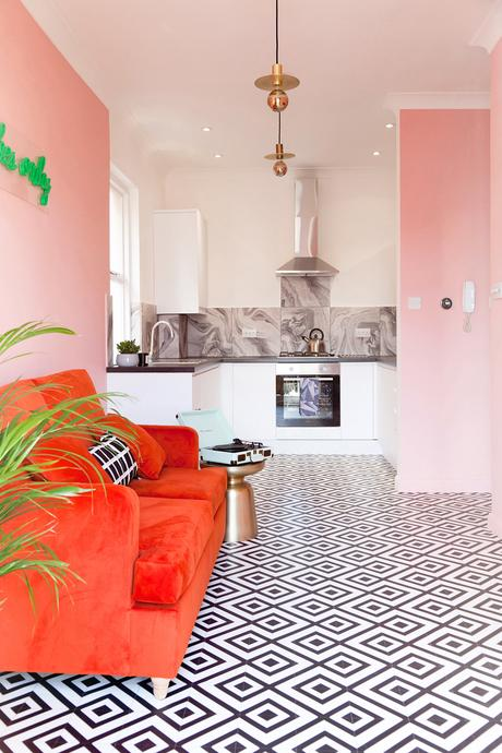 Kitchen style tips and inspiration. Bring your kitchen to life this 2018 with vibrant colours such as pastel pinks and burnt oranges.