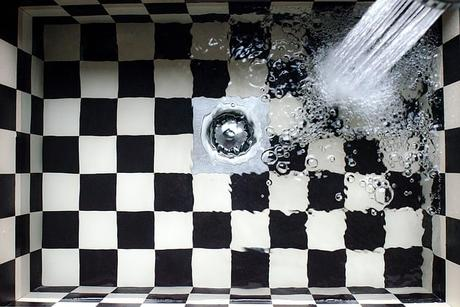 sink-kitchen-checkered-water-tap
