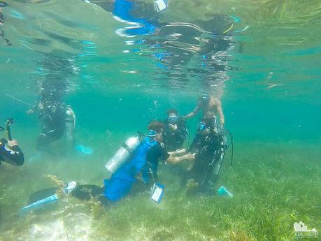 The first breath underwater is always a memorable experience
