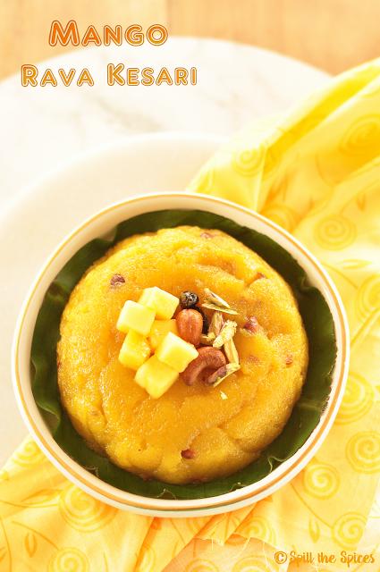 Mango Rava Kesari | Mango Semolina Pudding | Mango Sheera
