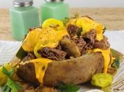 Loaded Philly Cheesesteak Baked Potato #ImprovCookingChallenge