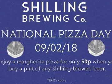 Celebrate National Pizza Day with Shilling Brewing Co
