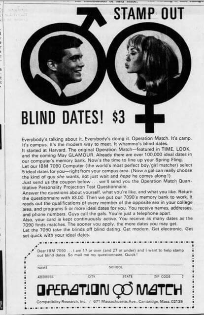 Computer Dating History