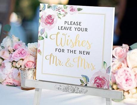 wedding wishes table card wish