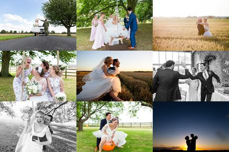 Yorkshire Wedding Photography Barn Venues Collage of Barmbyfield Barns Wedding