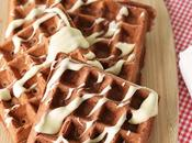Easy Mix-and-Cook Velvet Waffles with Cream Cheese Drizzle