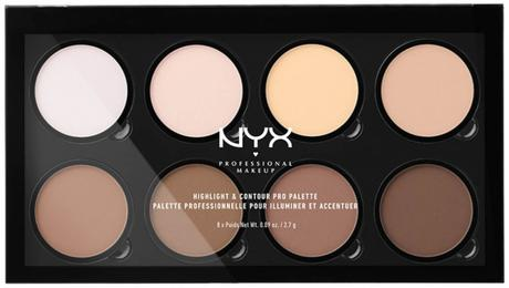 Nyx professional makeup highlight and contour palette