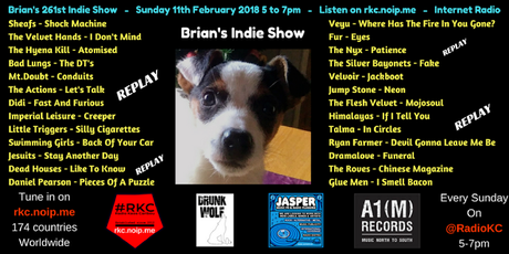 Brian's Indie Show REPLAY - as played on Radio KC - 11.2.18