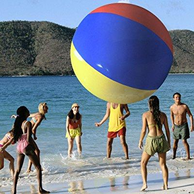 Image: The Beach Behemoth Giant Inflatable 12-Foot Pole-to-Pole Beach Ball by Sol Coastal