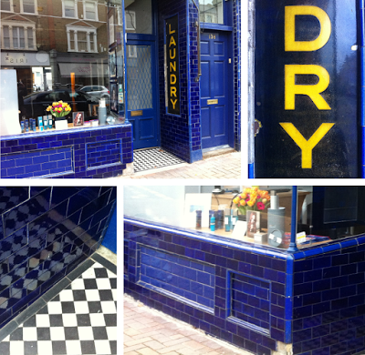 A blue-tiled laundry in Northcote Rd, Battersea