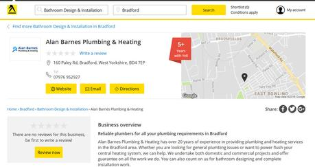 Local SEO Audit of Alan Barnes Plumbing and Heating Website