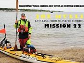 Kayaker Paddling From Maine Florida Support Veterans