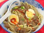 Mein Beef Noodle Soup (Yock, Sober Mein) #SoupSwappers