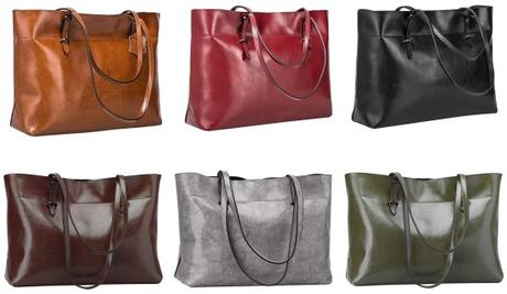 S-ZONE Women's Vintage Genuine Leather Purse Colors