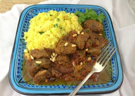 Slow Cooker Lamb and Rhubarb Tagine #FantasticalFoodFight