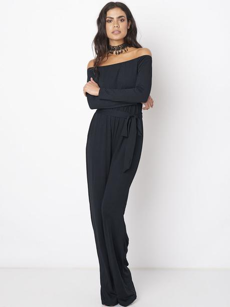 wide leg jumpsuit with sleeves