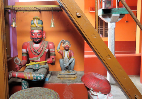 Some of the other wooden idols at the Nandikeshwara temple