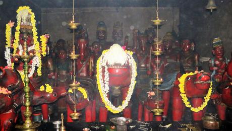 Sanctum sanctorum at Nandikeshwara temple
