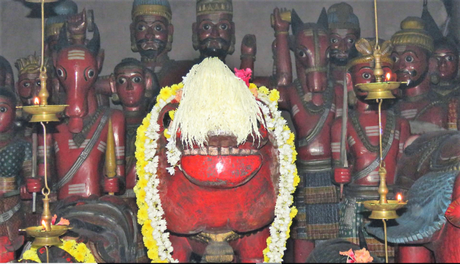 Main deity at Mekkikatu Nandikeshwara temple