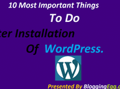Most Important Things After Installation WordPress.