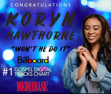 """Koryn Hawthorne """"Won't He Do It"""" #1 Billboard Gospel Digital Track"""