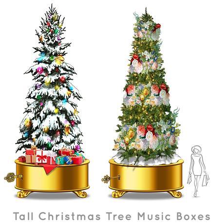 Santa-Photo-Area-Jay-Montgomery-Tall Christmas Tree Music Boxes