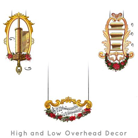 Santa-Photo-Area-Jay-Montgomery-High and Low Overhead Decor